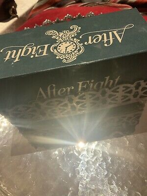 A Beautiful Antique Silver Plated After Eights Holder & Original Rowntree Box