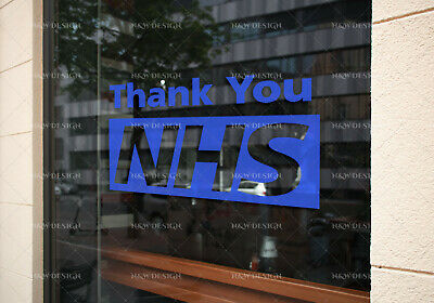 Thank You Nhs & Key Workers Car Window Wall Stickers Decal  Art Big/Large Size