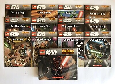 Lego Star Wars Childrens Books Phonics Learn to Read Gift Set Lot 12