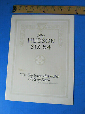 Hudson Six 6 54  Brochure Original  14 Page Light Wear