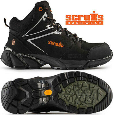 Mens Scruff Victory Hiker Safety Steel Toe Cap Shoes Leather Work Boots Trainers