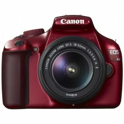 Near Mint! Canon EOS Kiss X50 with 18-55mm IS II Red - 1 year warranty