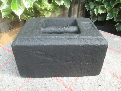 Vintage 56 Lb Cast Iron Weight Doorstop Rustic Garden