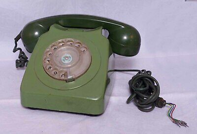 Vintage GPO BT 700 Series telephone - two tone green with rotary dial