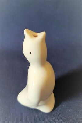 Vintage Pie Bird Vent White Ceramic  3.5 In.