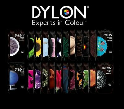Dylon Hand Wash 50g Fabric Dye Colour for Jeans Clothes and Textiles Sachets