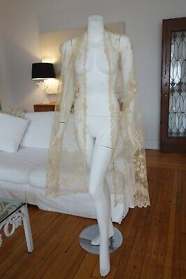 Antique Lace - Circa 19Thc Fine Brussels Lace Shawl