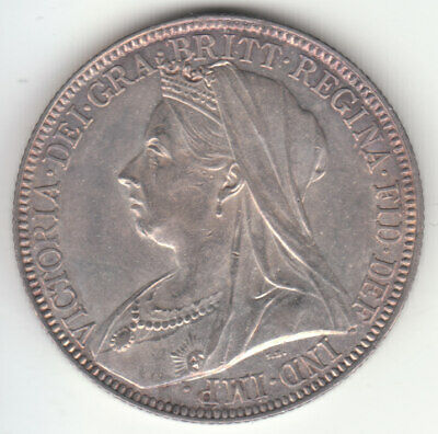 1897 Great Britain Queen Victoria Silver Florin. A/UNC.