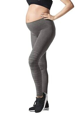 Blanqi Dark Gray $88 Hipster Support Maternity Stretch Legging Size Small NEW
