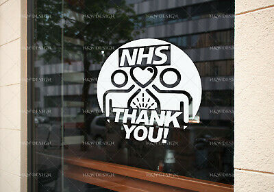 Thank You Nhs Sticker  Car Window Wall Stickers Decal  Art Big/Large Size
