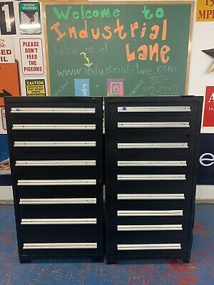 Lot of 2 - Stanley Vidmar Tool/Equipment Storage Cabinet (8 & 9 Drawers)