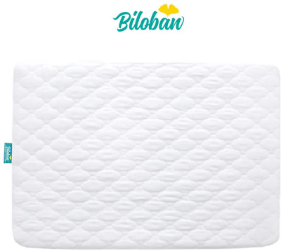 Biloban Pack N Play Mattress Pad Cover - Comfort Cotton Surface, 100% Waterproof