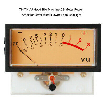 TN-73 AC 650Ω 12V VU Panel Meter 500UA Warm Back Light Recording US