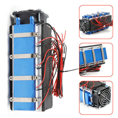 8 Chip Thermoelectric Peltier Refrigeration Cooling Cooler Fan System Heatsink