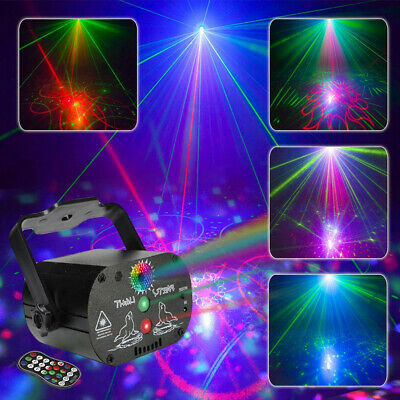Laser Stage Light 60 Patterns RGB LED Projector Party KTV Disco USB Lamp U`King