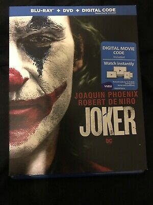Joker (Blu-ray Disc ONLY, 2019) No Digital Movie And Extras Disc