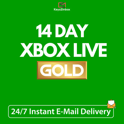 Xbox Live Gold 14 Day Trial Membership Code - 2 Weeks - Instant Delivery