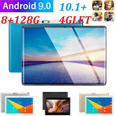 "4G-LTE 10.1"" Inch Metal Tablet Android 9.0 Pad 2.5D 8+128GB Dual Camera SIM GPS"