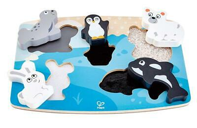 Polar Animal Tactile Wooden Puzzle - Hape Free Shipping!
