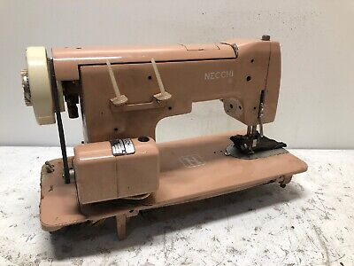 Vintage Necchi Pink Heavy Duty All-Metal Sewing Machine COOL DIY OLD DECOR PROP