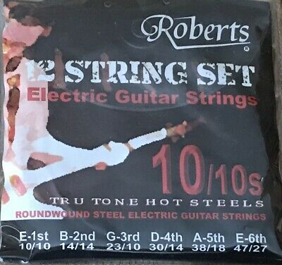 Set of Roberts TruTone 12-string Electric Guitar Strings. 10/10 - 47/27