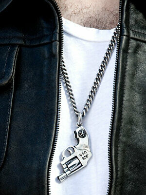 Sterling Assault Fu Dog Snaps  Bill Wall,chrome Hearts King Baby Style