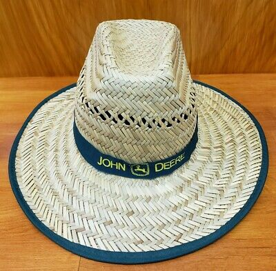 John Deere Straw Hat One Size Fits Most Green Band