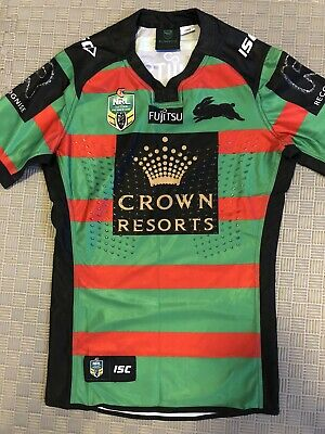 South Sydney Rabbitohs Rugby league Player Issue Shirt Size Medium Long