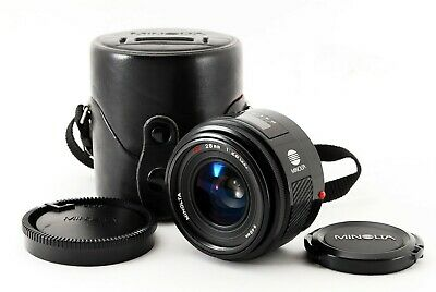 Minolta AF 28mm F/2.8 Prime Lens w/Case For Sony A Exce++ Japan Tested #3942