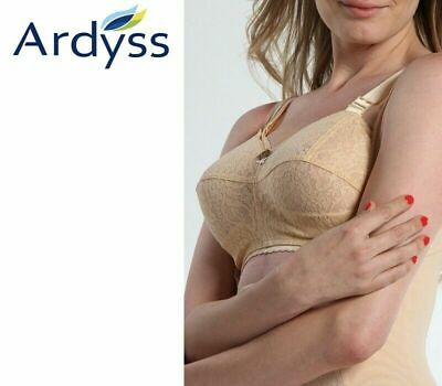 Ardyss Angel Bra Size 40 Cup F Beige  Color Fast Shipping !