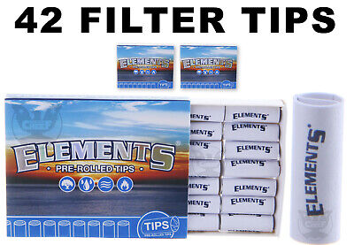 Elements Premium Pre-Rolled Tips (42 FILTER TIPS) for Rolling Papers - Free Ship