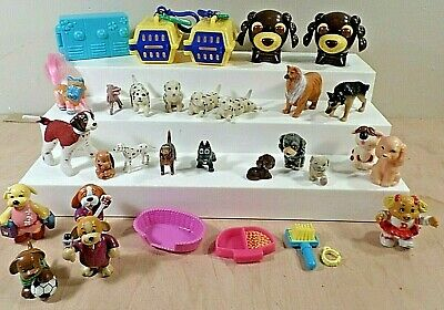 Lot of Small Dog / Puppy Figurine Toys~Webkins-Ganz~Puppy in my Pocket~More~