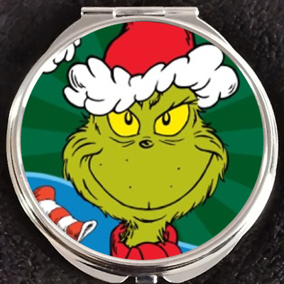 How the Grinch Stole Christmas Dr Seuss Max Disney Makeup Compact Double Mirror