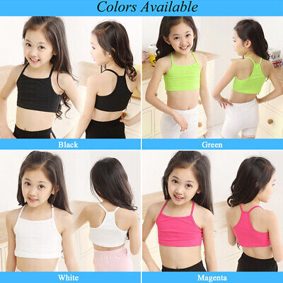 NEW Summer Kids Girl Tank Tops Vest Blouse Casual Camisole Crop Top Bra Age 3-9Y