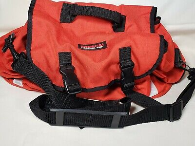 EMS USA Medic Carry Bag Fire Medical EMT Paramedic Pack Red