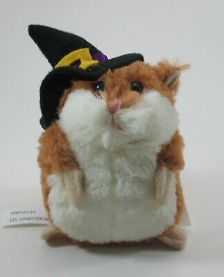 """zzS LIL HAMSTER plush Witch brown stuffed 3.5"""" Ganz halloween"""