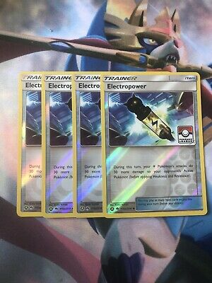 4X Electropower 172//214 Lost Thunder Pokemon TCG Online Digital Card