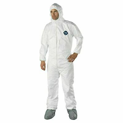 Dupont Tyvek 400 TY122S XL Coveralls with Hood & Skid-Resistant Boots, White...