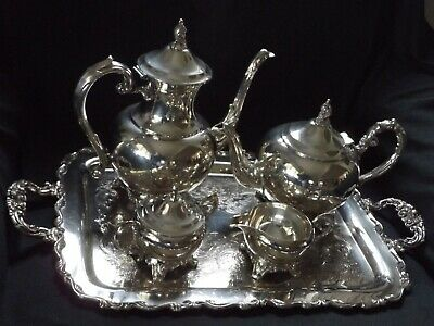 Beautiful  Silver Plated tea and coffee set with tray, Made In Canada