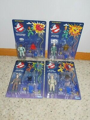 Complete Set of 4 New Sealed Kenner The Real Ghostbusters Figures Peter Egon