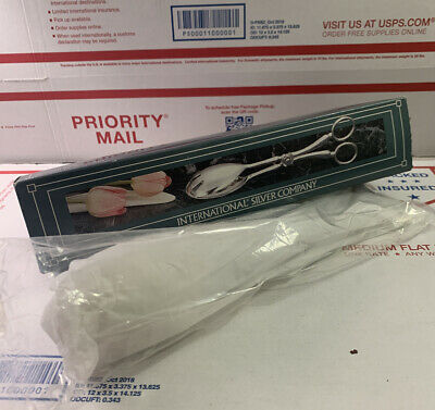 """International Silver Co Silverplated Scissor Salad Tongs 10.5"""" New In Packaging"""