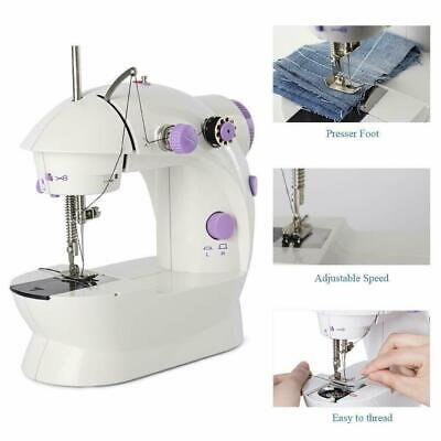 Electric Portable Mini Sewing Stitch Machine Adjustable 2 Speed Pedal LED New
