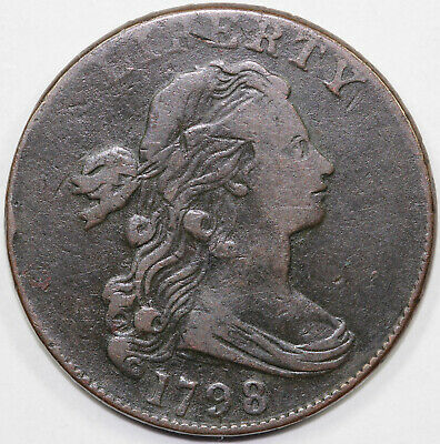 1798 1c S-165 Draped Bust Large Cent