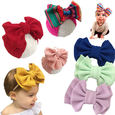 Large Bow Newborn Baby Headband Elastic Infant Toddler Girls Hair Band Head Wrap