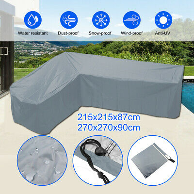 Garden Corner Furniture Cover Outdoor Sofa Protect L Shape Grey Waterproof