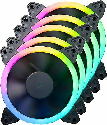 iONZ RGB HALO SINGLE RING PC CASE FAN LED 120mm 6pin 12CM Connector