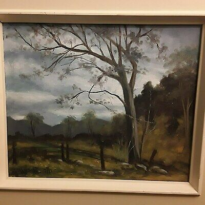 Canadian Landscape Painting, Countryside Landscape signed proceeds to food bank