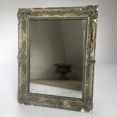 Beautiful antique ornate 19th century French mirror with foxed plate- chateau