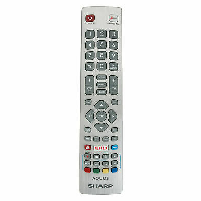 Genuine SHWRMC0121 New Remote Control Sharp Aquos Smart TV Netflix Freeview Play