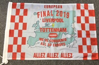 JOB LOT x 10 LIVERPOOL EUROPEAN CHAMPIONS 2019 FLAGS - 3x2 WE DONATE TO THE NHS